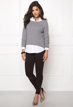 ONLY New Tessa Zip Pullover Light Grey Melange Bubbleroom.se
