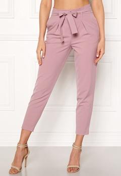 ONLY Nicole Paperbag Pants Misty Rose Bubbleroom.se