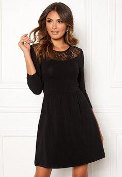 ONLY Niella Lace 3/4 Dress Black Bubbleroom.se