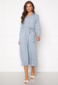 ONLY Nita L/S Midi Shirt Dress Cashmere Blue Bubbleroom.se