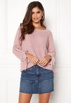 ONLY Noleta L/S Lace Pullover Blush Bubbleroom.se