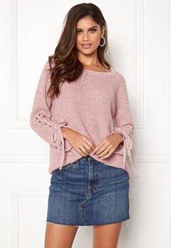 ONLY Noleta L/S Lace Pullover Blush Bubbleroom.fi