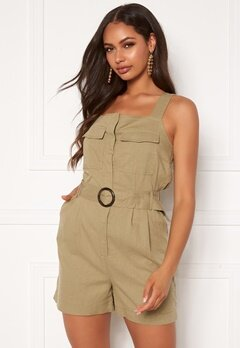 ONLY Noreen-Bibs Playsuit Martini Olive Bubbleroom.se