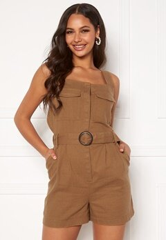 ONLY Noreen-Bibs Playsuit Toasted Coconut Bubbleroom.se