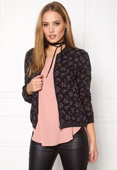 ONLY Nova Bomber AOP Jacket Black Bubbleroom.se