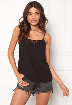 ONLY Nova Lace Solid Strap Top Black Bubbleroom.se