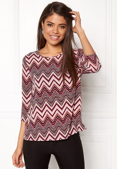 ONLY Nova Lux 3/4 Sleeve Top Rose Dawn Bubbleroom.se