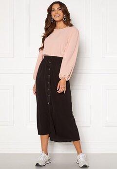 ONLY Nova Lux Button Skirt Solid Black Bubbleroom.se