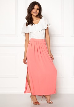 ONLY Nova Lux Maxi Skirt Solid Strawberry Ice Bubbleroom.se