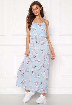 ONLY Nova Lux S/L Maxi Dress Cashmere Blue Bubbleroom.se
