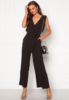 ONLY Nova Lux S/L Wrap Jumpsuit Black Bubbleroom.se