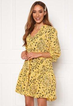 ONLY Nova Lux Thea Dress Misted Yellow AOP Bubbleroom.se