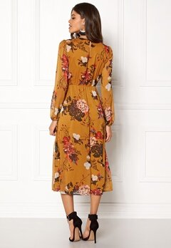 ONLY Oda L/S Maxi Dress Peat Bubbleroom.se