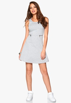 ONLY Olivia S/L Dress Medium Grey Melange Bubbleroom.eu