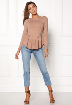 ONLY Olympia L/S Flounce Indian Tan Bubbleroom.no