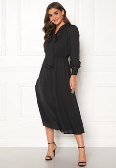 ONLY Opal L/S Long Dress Black Bubbleroom.se