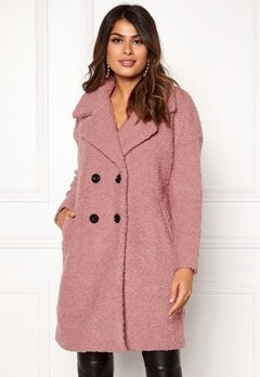 ONLY Paloma Boucle Wool Coat Baroque Rose Bubbleroom.se