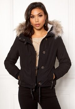 ONLY Peyton Short Fur Jacket Black Bubbleroom.se