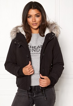 ONLY peyton short fur parka Black Bubbleroom.eu