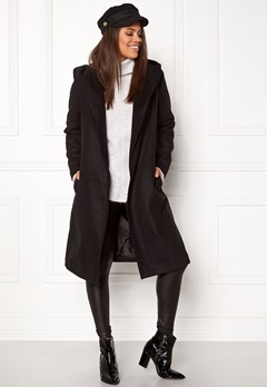 ONLY phoebe hooded coat cc black Bubbleroom.fi
