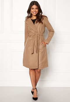 ONLY phoebe hooded coat cc camel Bubbleroom.se