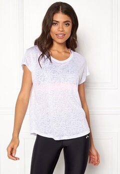 ONLY PLAY Beate Loose SS Tee White Bubbleroom.fi