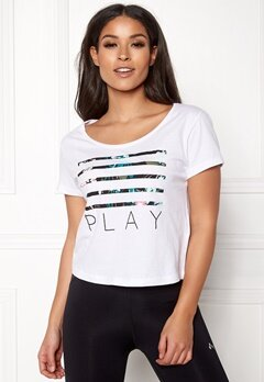ONLY PLAY Blossom Short SS Top White Bubbleroom.se