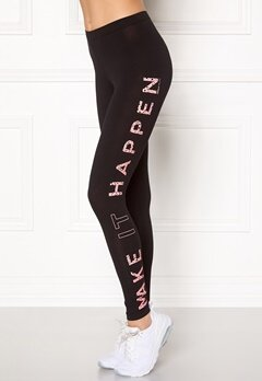 ONLY PLAY Sila Jersey Leggings Black/Pink Bubbleroom.se