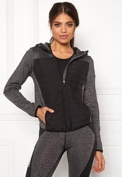 ONLY PLAY Vera Quilted Hood Jacket Dark Grey Melange Bubbleroom.se