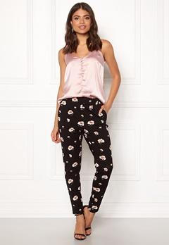 ONLY Poptrash Carnation Pant Black/Flower Print Bubbleroom.se