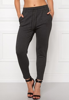 ONLY Poptrash Easy Pants Dark Grey Melange Bubbleroom.se
