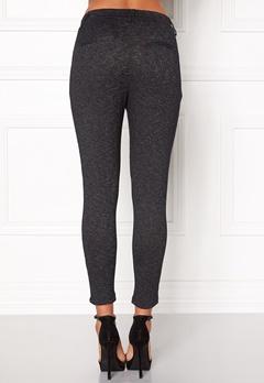 ONLY Poptrash Zip Melange Pant Dark Grey Melange Bubbleroom.fi