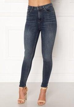 ONLY Posh HW Cropped Jeans Dark Blue Denim Bubbleroom.dk