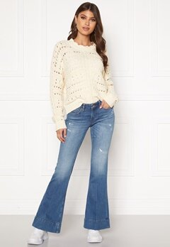 ONLY Qbloom Reg FL MB DNM Jeans Medium Blue Denim Bubbleroom.se