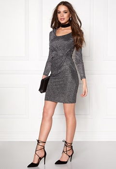 ONLY Ramona L/S Knot Dress Black 1 Bubbleroom.se