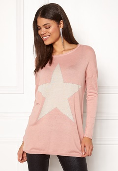 ONLY Reese L/S Pullover Knit Misty Rose Bubbleroom.eu