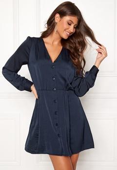 ONLY Regina L/S Short Dress Peacoat Bubbleroom.se