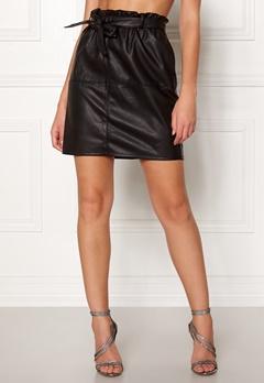 ONLY Rigie PU Paper Bag Skirt Black Bubbleroom.se