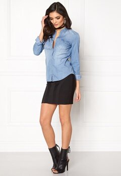 ONLY Rock it Fit Denim Shirt Light Blue Denim Bubbleroom.fi