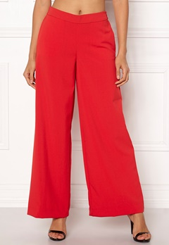 ONLY Roma Wide Leg Pants High Risk Red Bubbleroom.se