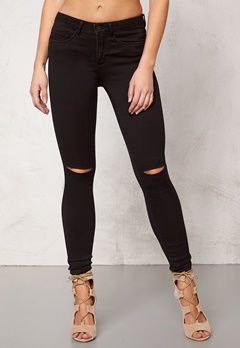 ONLY Royal Kneecut Jeans Black Bubbleroom.eu