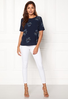 ONLY Run S/S Top Patriot Blue Bubbleroom.fi