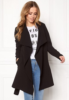 ONLY Runa Spring Coat Black Bubbleroom.fi