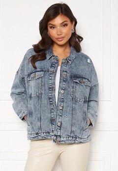 ONLY Safe Life LS Oversize Jacket Medium Blue Denim Bubbleroom.se