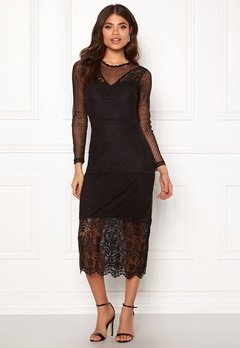 ONLY Sam L/S Lace Dress Black Bubbleroom.se