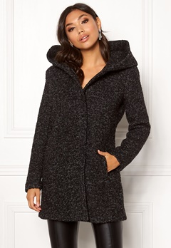 ONLY Sedona Boucle Wool Coat Black Bubbleroom.se