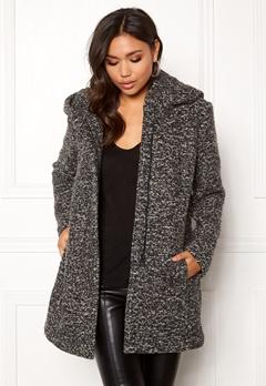 ONLY Sedona Boucle Wool Coat Dark Grey Melange Bubbleroom.se