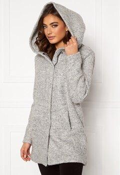 ONLY Sedona Boucle Wool Coat Light Grey Melange Bubbleroom.se
