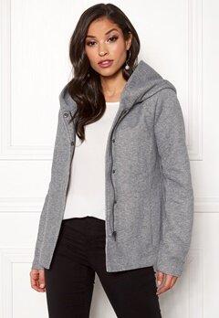 ONLY Sedona Short Jacket Light Grey Melange Bubbleroom.se