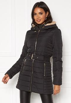 ONLY Shelly Hooded Coat Black Bubbleroom.se